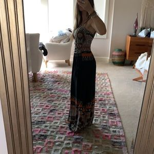 Boho Maxi Tribal Aztec Dress
